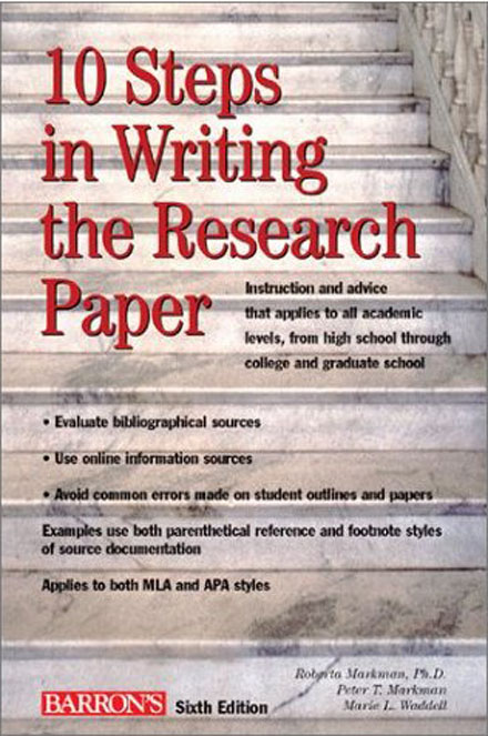 What are the steps to writing a research paper