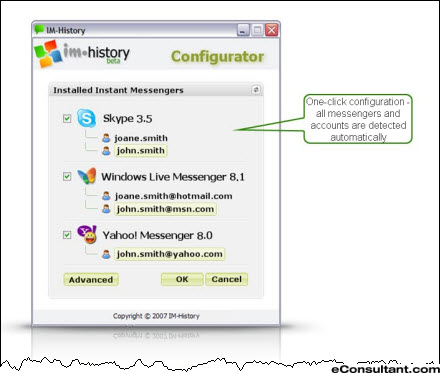 Freeware to consolidate all IM logs Skype Yahoo! Messenger