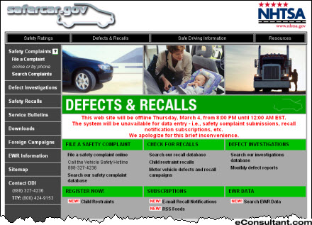 How to Trace Your Car's Safety Record : Office of Defects ...
