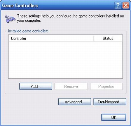 How to access Game Controllers fast using Windows XP shortcut : Ask