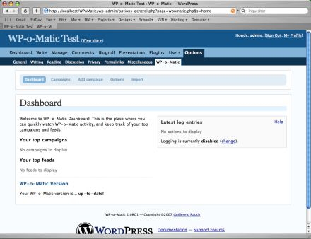 Wordpress plugin to automatically create posts from RSS feeds : WP-o