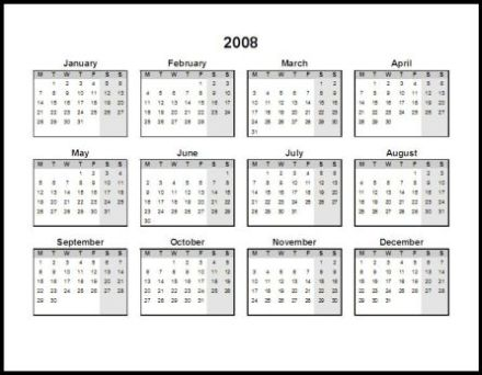 2011 calendar printable one page. 2011 Single Page (Annual)