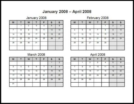 Print 2008 Calendar Three Pages Ask The Econsultant