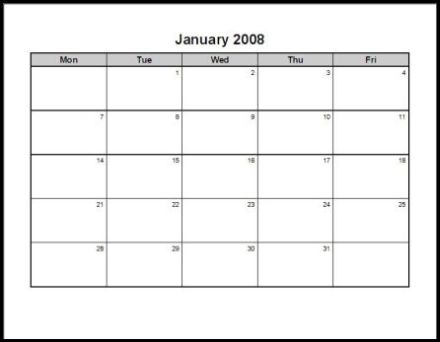 Print 2008 Calendar : Twelve Pages (Monthly) : Ask the eConsultant
