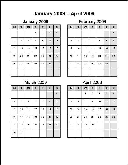 440 x 568 jpeg 43kB, Free 2 Week Calendar Template/page/2 | Calendar ...