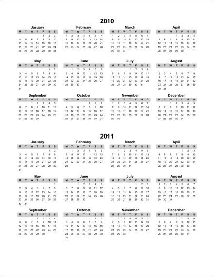 Print 2011 Calendar : Single Page (Annual) : Ask the eConsultant