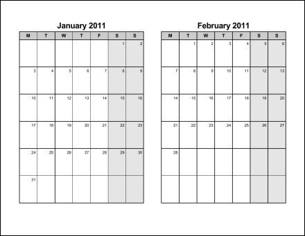 Print 2011 Calendar Six Pages Bi Monthly Ask The Econsultant
