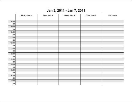 Weekly Calendar Word Blank 7 Day Schedule March 2017 Calendar – Word Weekly Calendar