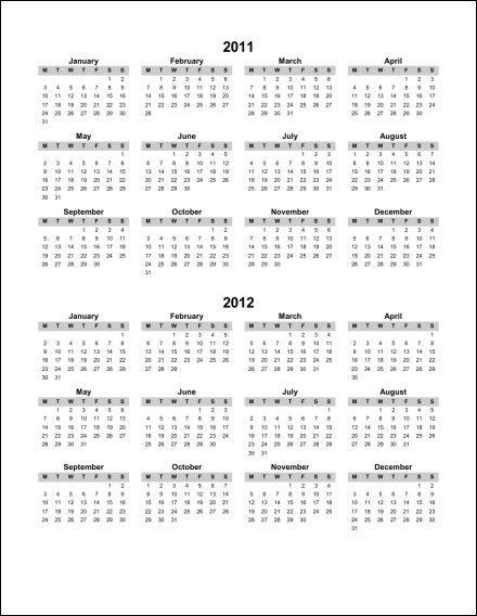 2011 2012 1 Page Multi Year Portrait 1 Starts Monday PDF 2011 2012.