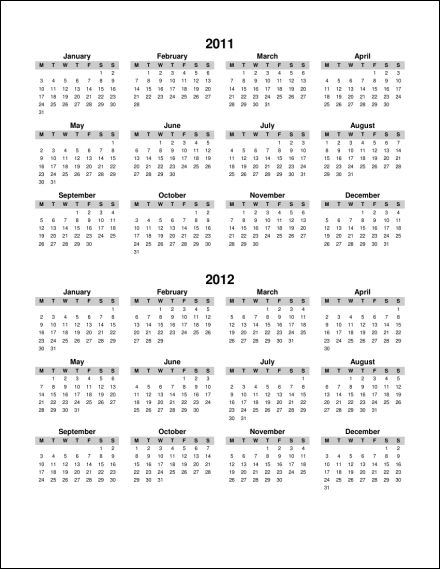 Year Calendar Starting : Print calendar single page annual ask the