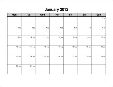 Print 2012 Calendar : Twelve Pages (Monthly) : Ask the eConsultant