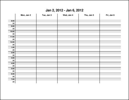 Print 2012 Calendar Fifty Two Pages Weekly eConsultants soup – Microsoft Weekly Planner