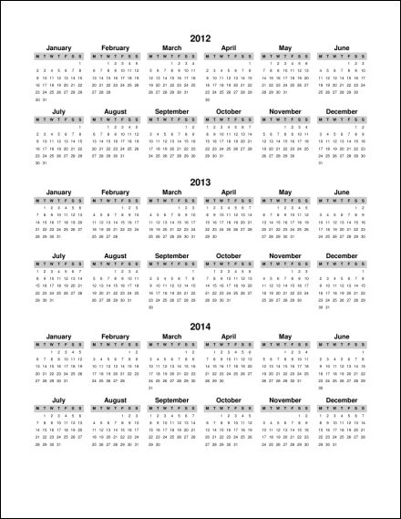 2012 2013 2014 1 Page Multi Year Portrait 1  Starts Monday   PDF  2012